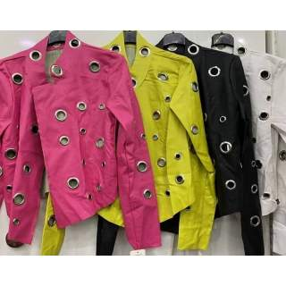 Renkli Deri Ceket