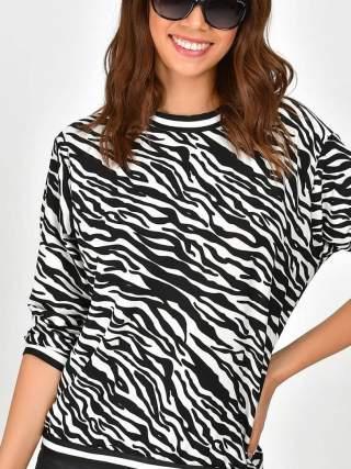 Zebra uzun kol bluz