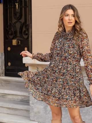 Çift Fırfırlı Elbise